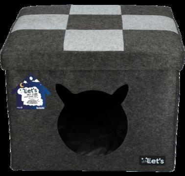 Let's sleep Pet Cube light/dark grey