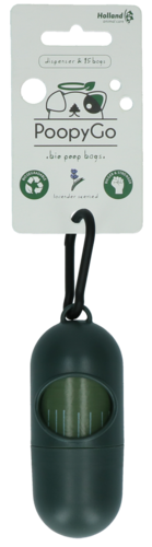 PoopyGo dispenser incl. 15 bags Lavender scented